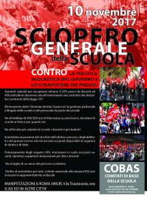 manifesto cobas novembre 2017